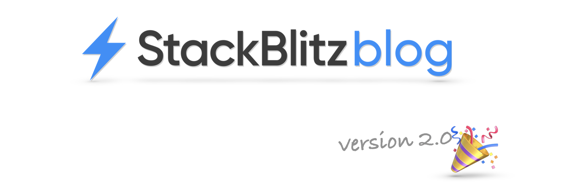 StackBlitz blog version 2.0